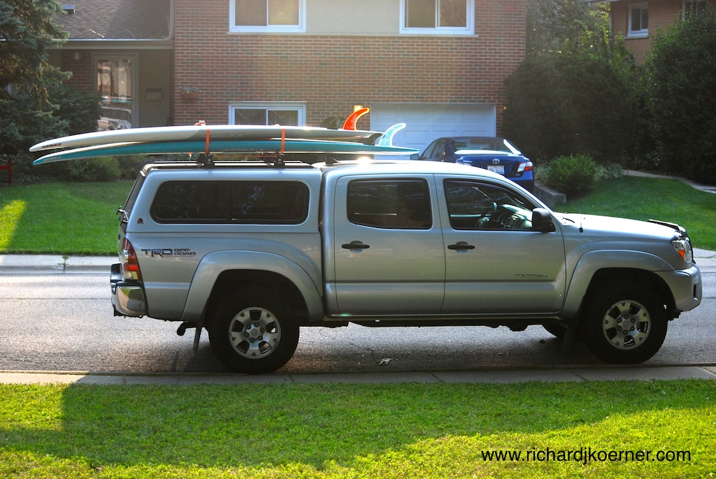 This is the vehicle often responsible for picking up the girls from our house and for making trips to the beach to surf or paddle board.
