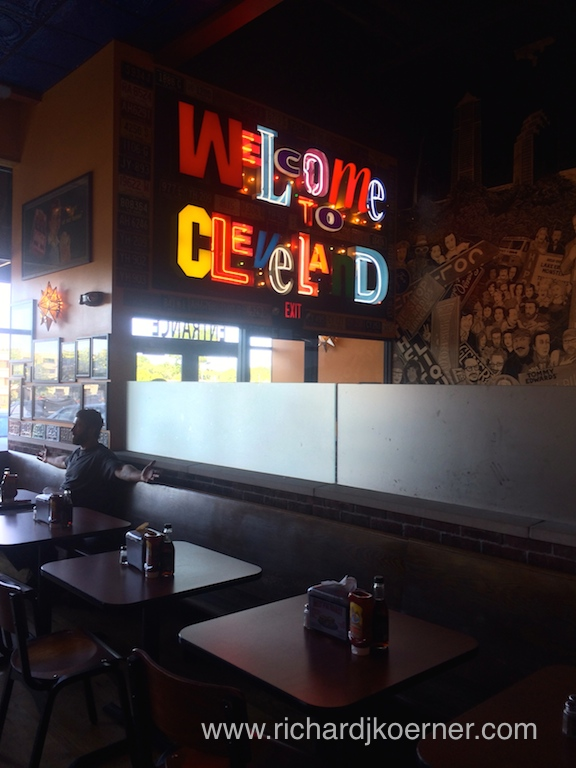 """The interior of """"Melt Bar and Grilled,' a collection of kitschy things in a wonderful ambiance."""
