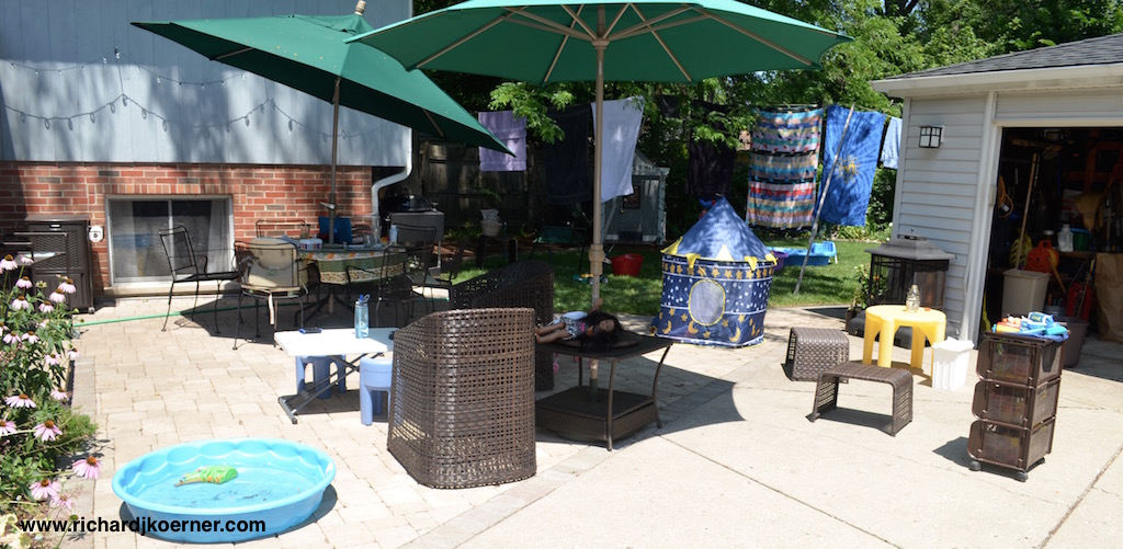 The Koerner patio on a 'girl' day.